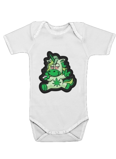 Unicorn weed for Baby short sleeve onesies