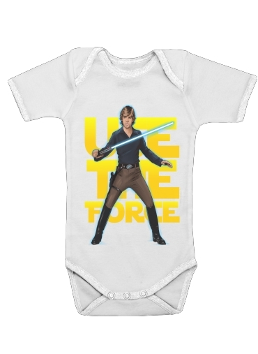 Use the force for Baby short sleeve onesies