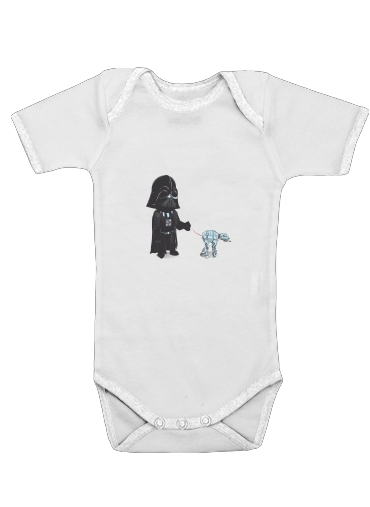 Walking The Robot for Baby short sleeve onesies