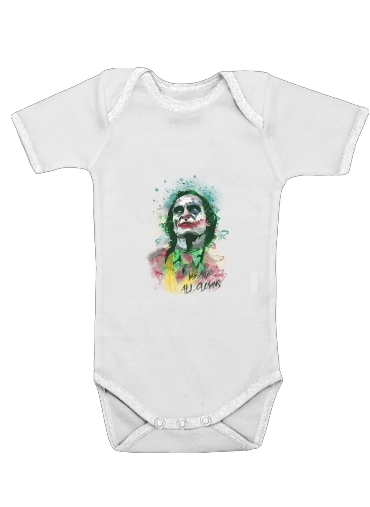 Onesies Baby Watercolor Joker Clown