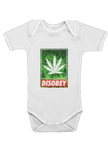Onesies Baby Weed Cannabis Disobey