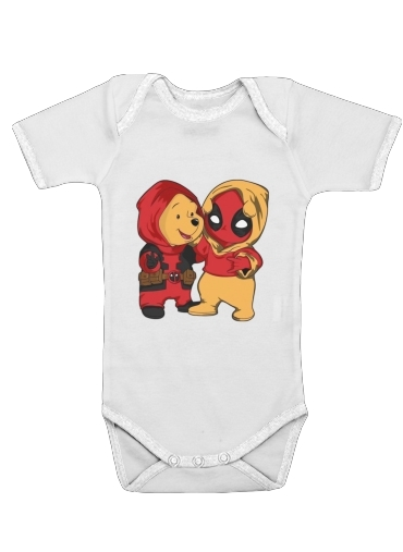 Winnnie the Pooh x Deadpool for Baby short sleeve onesies