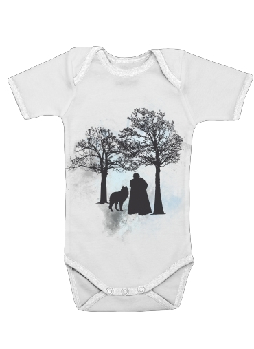 Wolf Snow for Baby short sleeve onesies