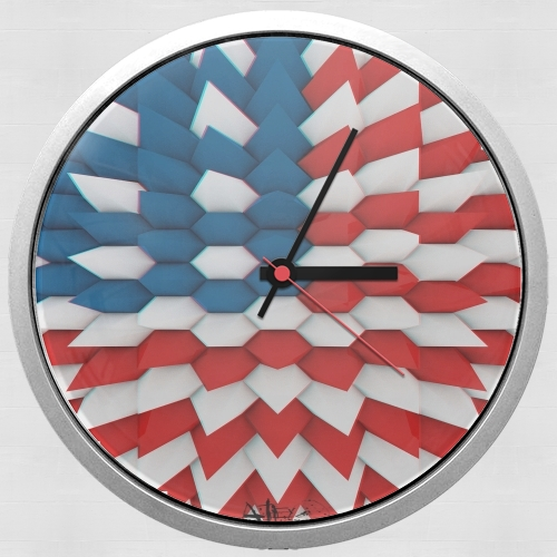 3D Poly USA flag for Wall clock