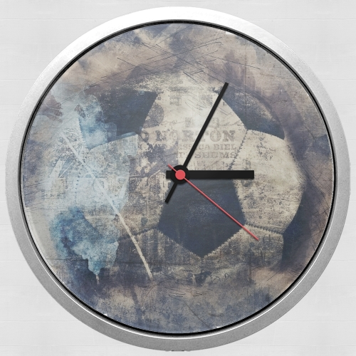 Abstract Blue Grunge Football for Wall clock