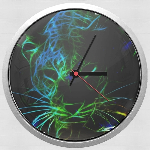Abstract neon Leopard for Wall clock