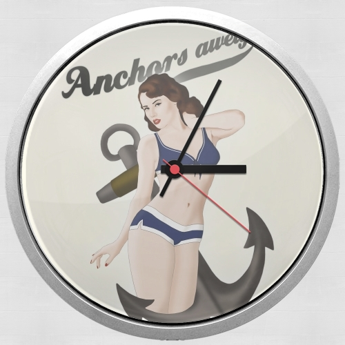 Anchors Aweigh - Classic Pin Up for Wall clock