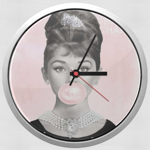 Audrey Hepburn bubblegum for Wall clock