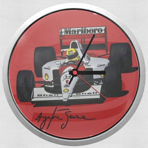 Ayrton Senna Formule 1 King for Wall clock