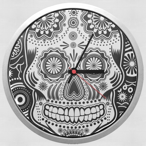 black and white sugar skull for Wall clock