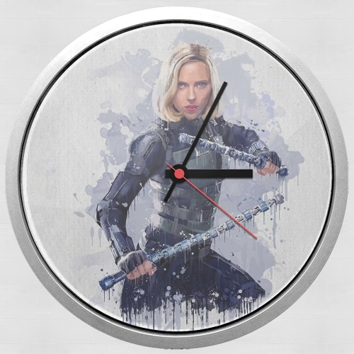 Black Widow Watercolor art for Wall clock