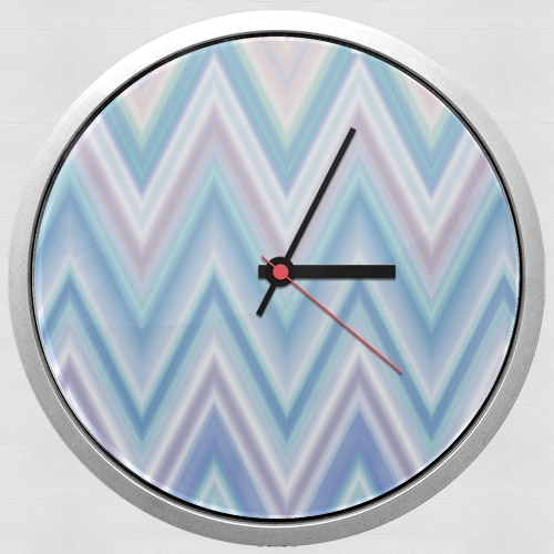 BLUE COLORFUL CHEVRON  for Wall clock