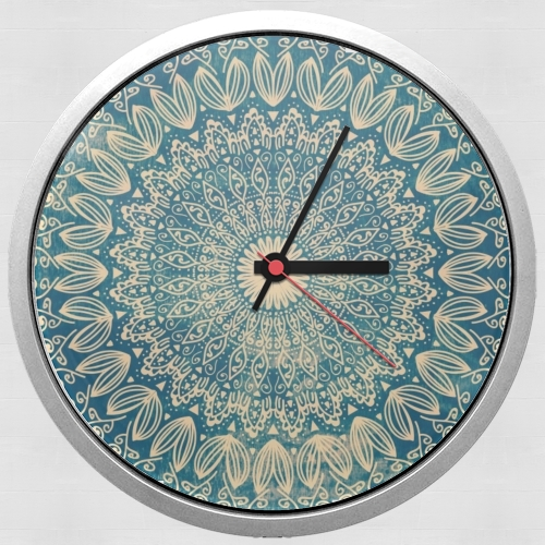 BLUE ORGANIC BOHO MANDALA for Wall clock