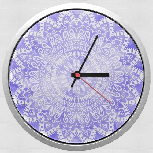 Bohemian Flower Mandala in purple for Wall clock