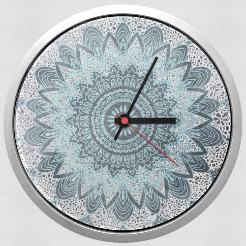 BOHOCHIC MANDALA IN BLUE for Wall clock
