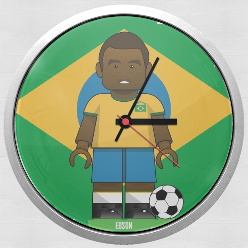 Bricks Collection: Brasil Edson for Wall clock