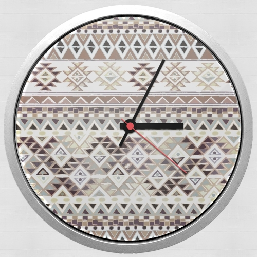 BROWN TRIBAL NATIVE for Wall clock
