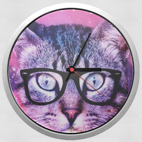 Cat Hipster for Wall clock