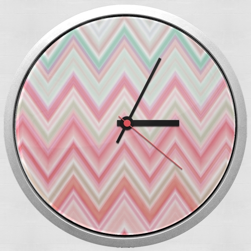 colorful chevron in pink for Wall clock