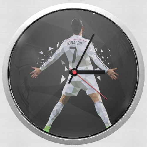 Cristiano Ronaldo Celebration Piouuu GOAL Abstract ART for Wall clock