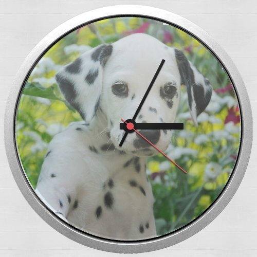 Cute Dalmatian puppy in a basket  for Wall clock