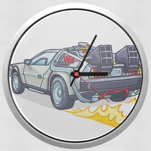 Delorean retour vers le futur for Wall clock
