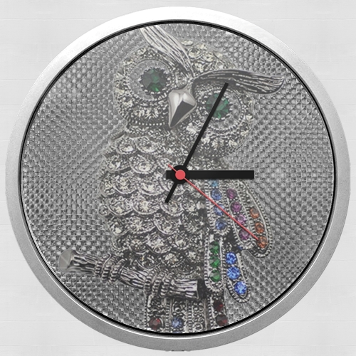 diamond owl for Wall clock