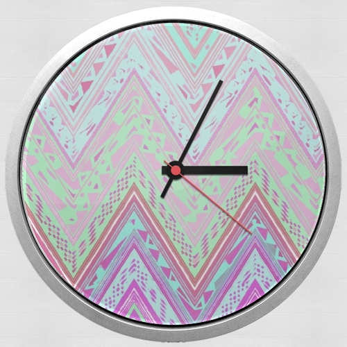 ETHNIC CHEVRON for Wall clock