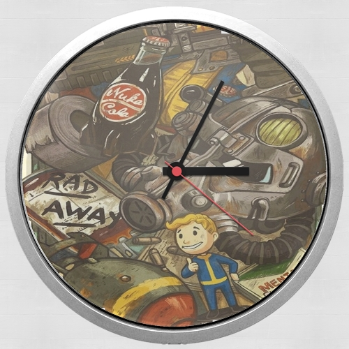 Fallout Painting Nuka Coca for Wall clock