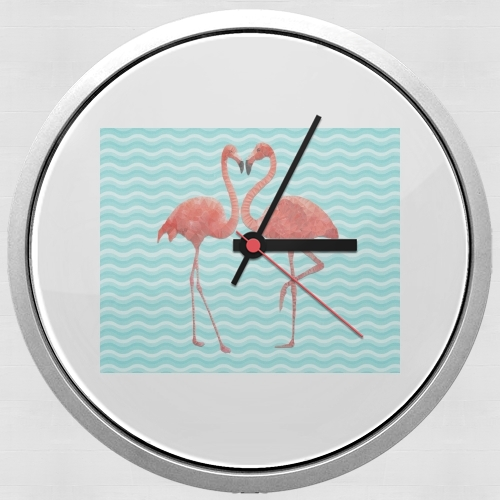 flamingo love for Wall clock