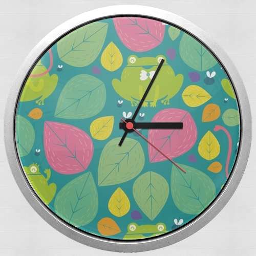 Frogs and leaves for Wall clock