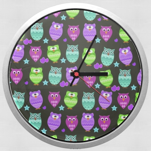 funky owls for Wall clock