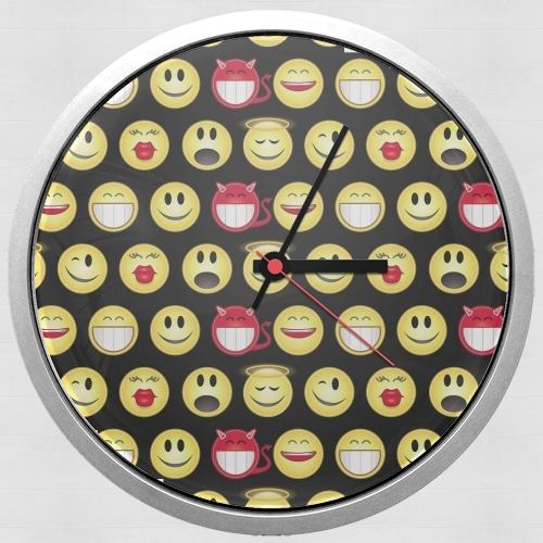 funny smileys for Wall clock