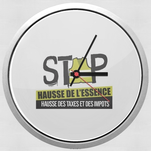 Gilet Jaune Stop aux taxes for Wall clock