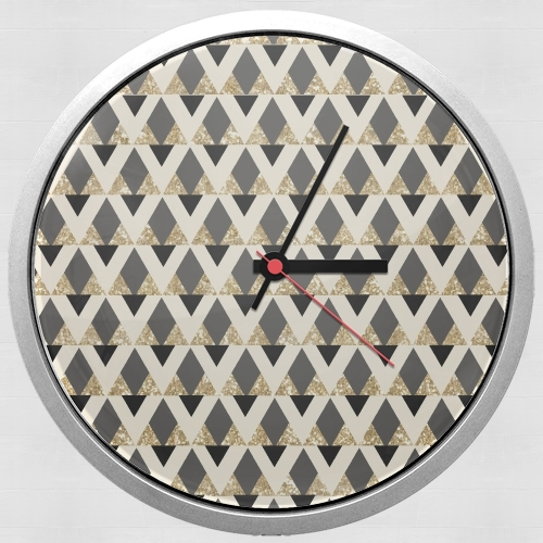 Glitter Triangles in Gold Black And Nude for Wall clock
