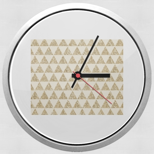 Glitter Triangles in Gold for Wall clock