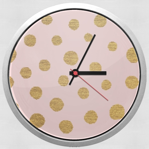 Golden Dots And Pink for Wall clock