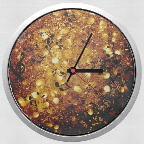 Golden Music for Wall clock