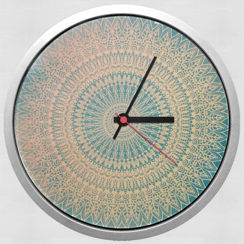 GOLDEN SUN MANDALA for Wall clock