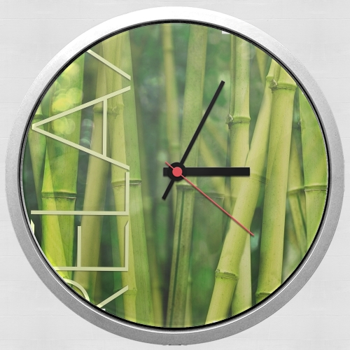 green bamboo for Wall clock