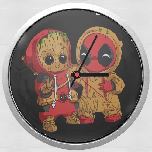 Groot x Deadpool for Wall clock