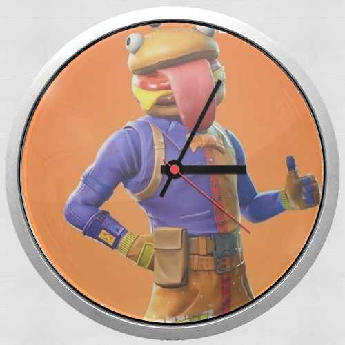 Hamburger Fortnite skins Beef Boss for Wall clock