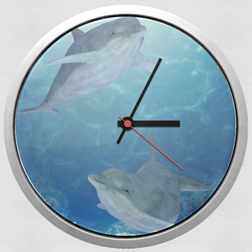 happy dolphins for Wall clock