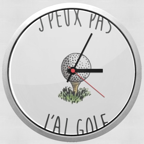 Je peux pas jai golf for Wall clock