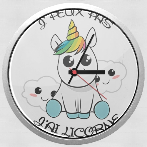 Je peux pas j'ai licorne for Wall clock