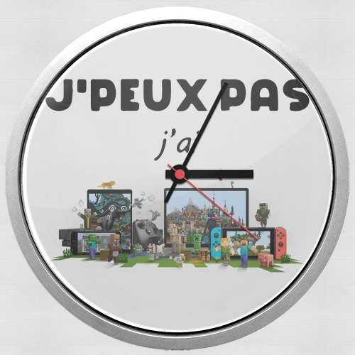 Je peux pas jai minecraft for Wall clock