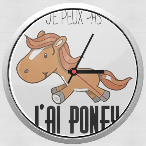Je peux pas jai poney for Wall clock