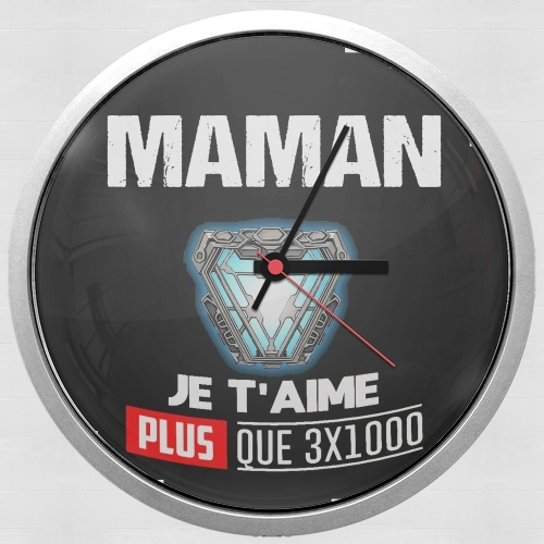 Maman je taime plus que 3x1000 for Wall clock