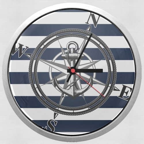 Navy Striped Nautica for Wall clock