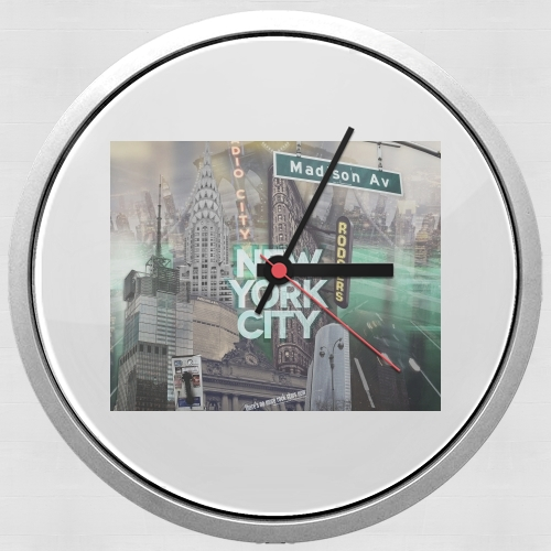 New York City II [green] for Wall clock